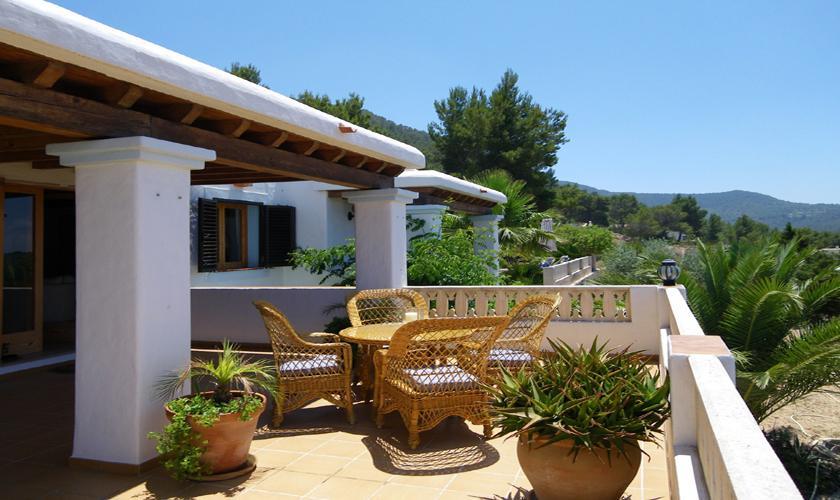 Terrasse oben Finca Ibiza 6 Personen IBZ 76