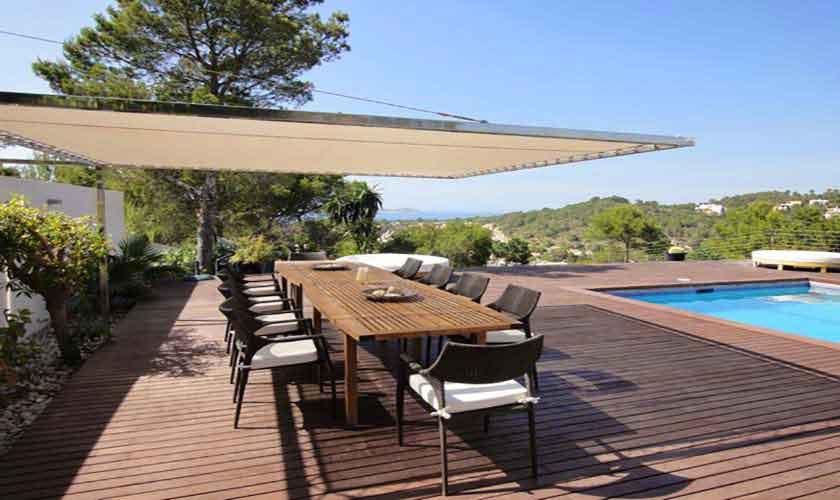 Terrasse und Villa Ibiza Cala Vadella IBZ 81