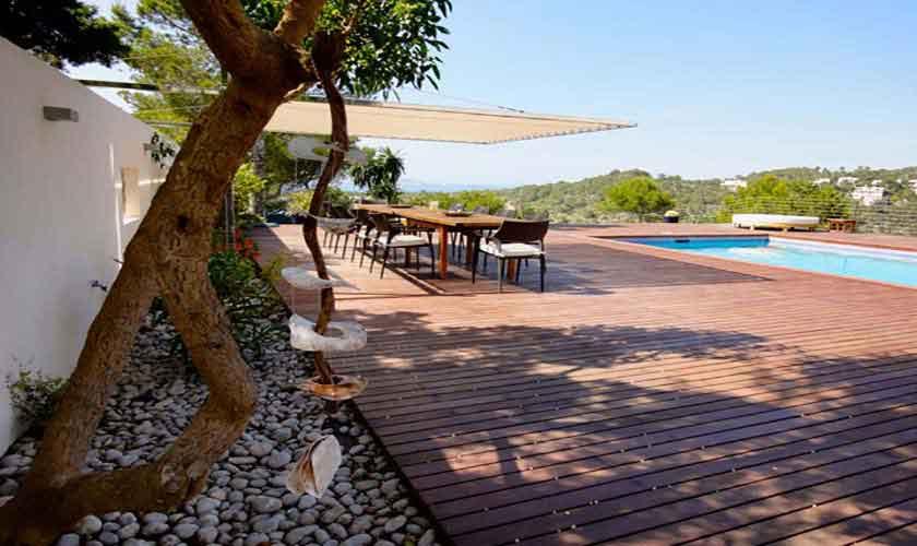 Terrasse und Ferienvilla Ibiza Cala Vadella IBZ 81