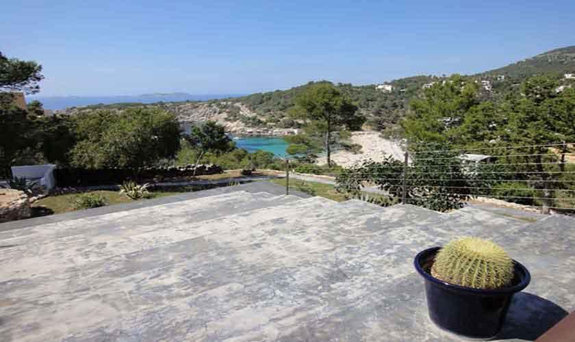 Blick Ferienhaus Ibiza Cala Vadella IBZ 81