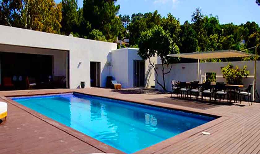 Pool und Ferienvilla Ibiza Cala Vadella IBZ 81