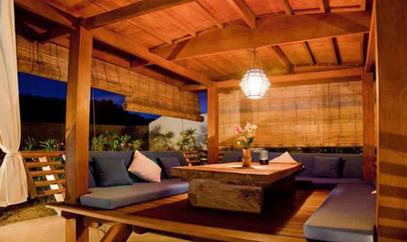 Außenküche und Esstisch Finca Ibiza für 8-10 Personen IBZ 82