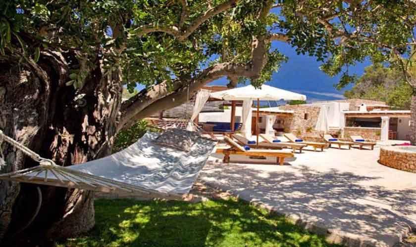 Terrasse Finca Ibiza für 8-10 Personen IBZ 82