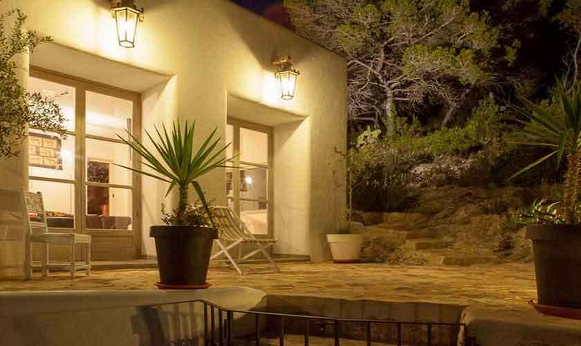 Blick auf die Finca Ibiza Ses Salines IBZ 85