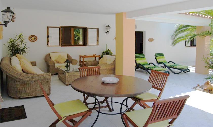 Lounge Terrasse Finca Ibiza 6 Personen IBZ 90