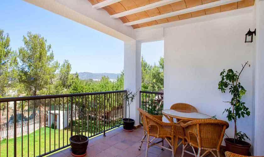 Terrasse oben Ferienvilla Ibiza 8 Personen IBZ 91