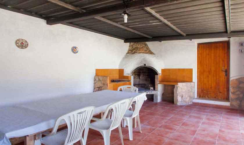 Barbecue Ferienvilla Ibiza 8 Personen IBZ 91