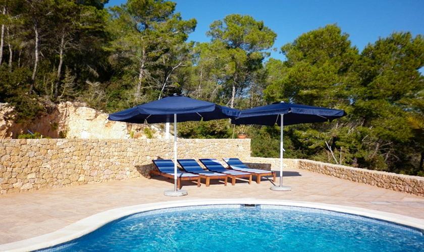 Pool Ferienhaus Ibiza für 4 Personen IBZ 95