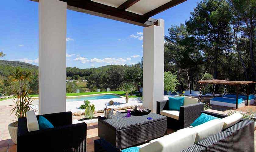 Lounge Terrasse Finca Ibiza 6 Personen IBZ 96