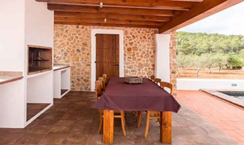 Barbecue Finca Ibiza mit Pool IBZ 97
