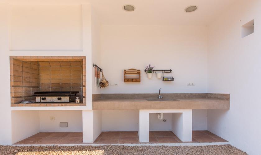 Barbecue Ferienhaus Ibiza Cala Tarida  IBZ 10