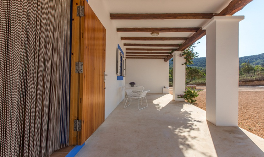Terrasse Ferienhaus Ibiza Cala Tarida  IBZ 10