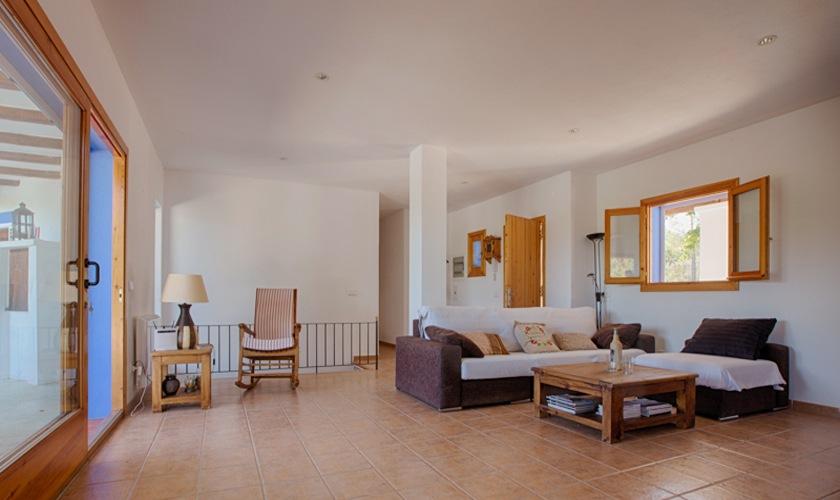 Wohnraum Ferienhaus Ibiza Cala Tarida  IBZ 10