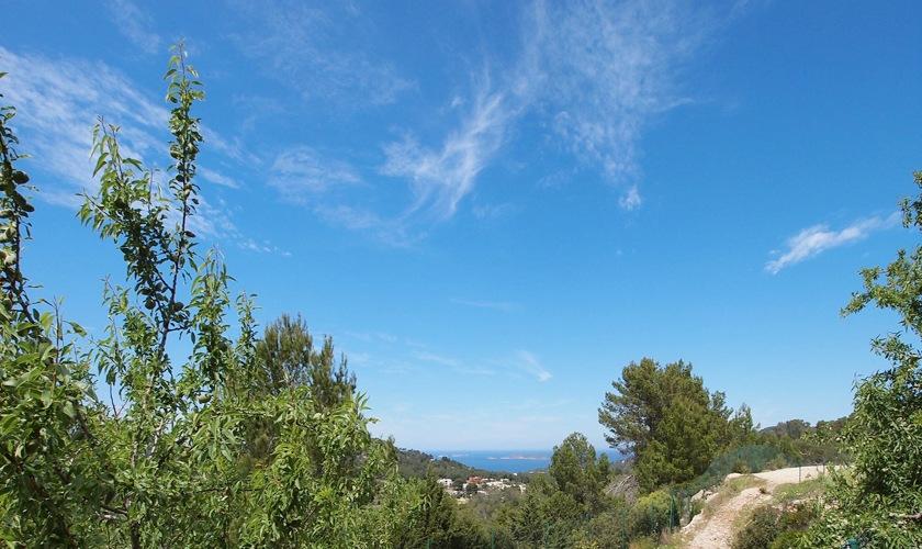 Landschaftsblick Poolvilla Westküste Ibiza IBZ 11