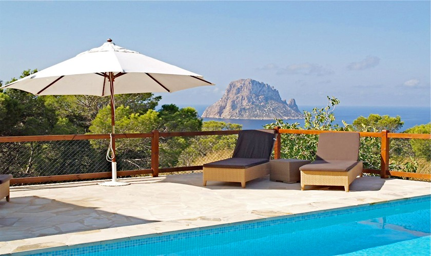 Blick auf das Meer Poolvilla Ibiza IBZ 11