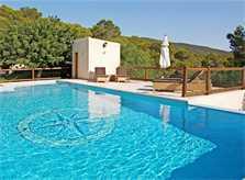 Poolblick Villa Ibiza mit Klimaanlage und WLAN IBZ 11
