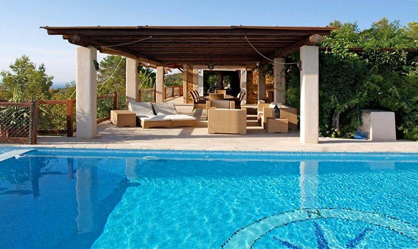 Terrasse mit Pool Ferienvilla 8 Personen Ibiza IBZ 11