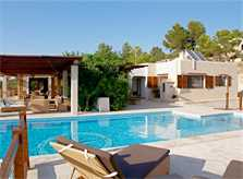 Blick auf den Pool Luxusvilla San Jose Ibiza IBZ 11