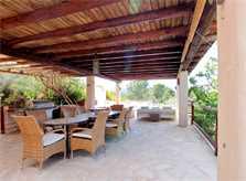 Terrrasse mit Esstisch Poolvilla 8 Personen Ibiza IBZ 11