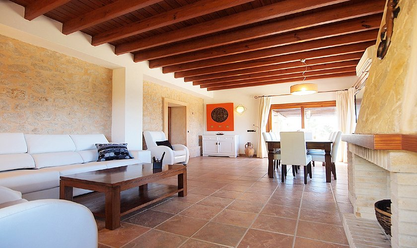 Wohnzimmer Villa mit Pool Ibiza 8 Personen IBZ 11