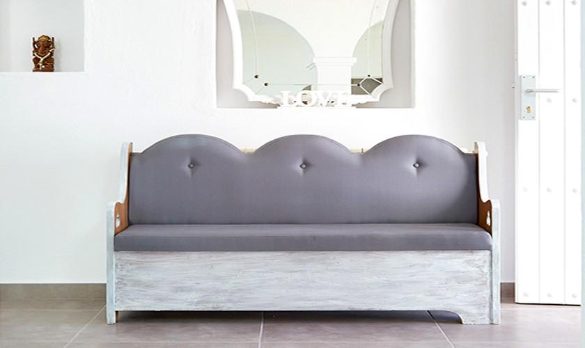 Sofa exklusive Ferienvilla mit Meerblick und Pool IBZ 12