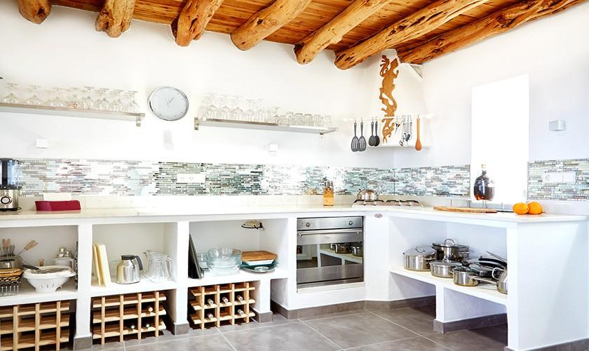 Küche Ferienvilla mit Meerblick und Pool 10 Personen IBZ 12