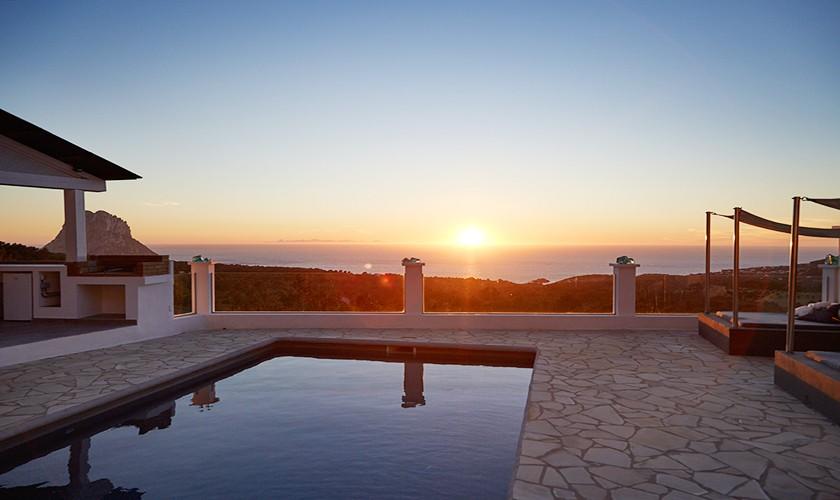 Sonnenuntergang Exklusive Poolvilla Ibiza 10 Personen IBZ 12