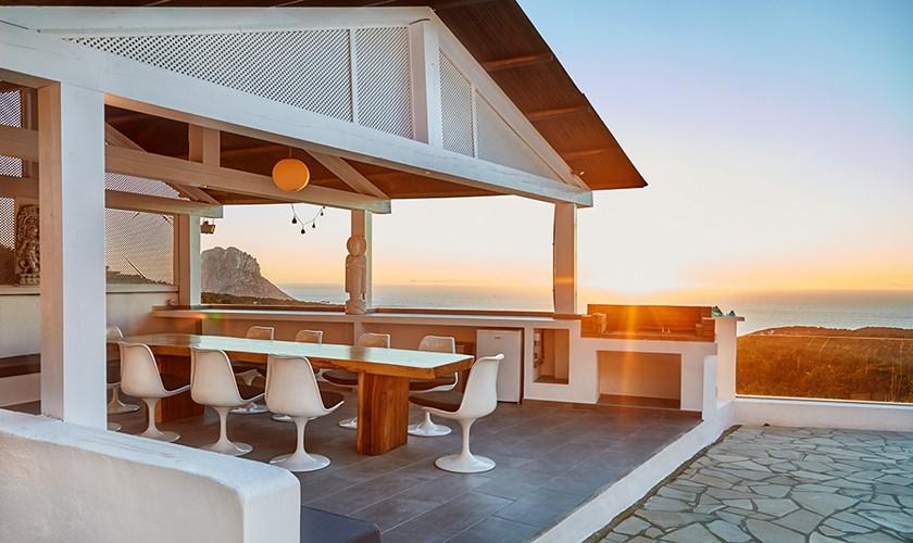Terrasse Cabana Exklusive Poolvilla Ibiza 10 Personen IBZ 12