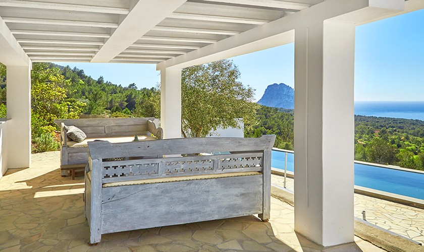 Möblierte Terrasse Poolvilla Ibiza 10 Personen IBZ 12