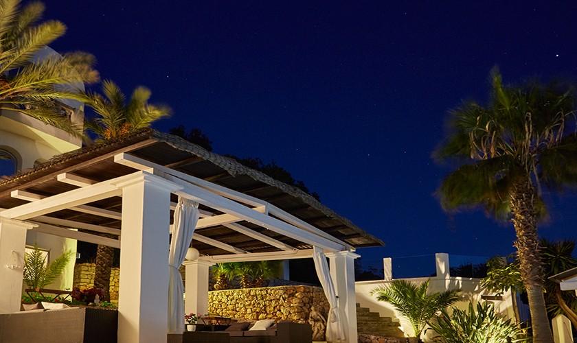 Terrasse bei Nacht exklusive Villa Ibiza IBZ 12