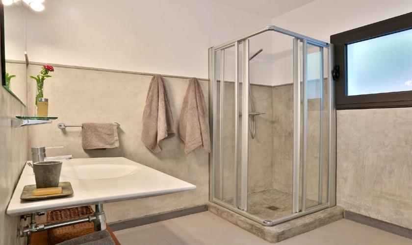 Bad mit Dusche Ferienhaus mit Pool Ibiza 8 Personen IBZ 14