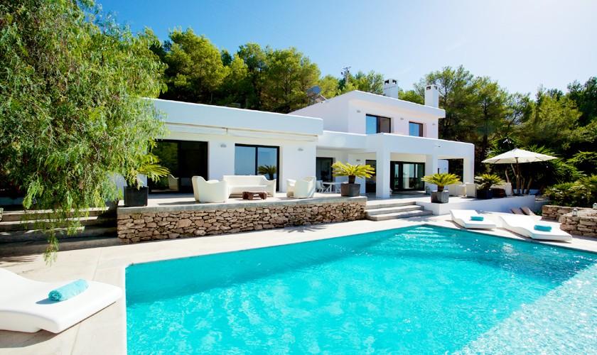 Pool und Villa Ibiza Cala Tarida 8 Personen IBZ 14