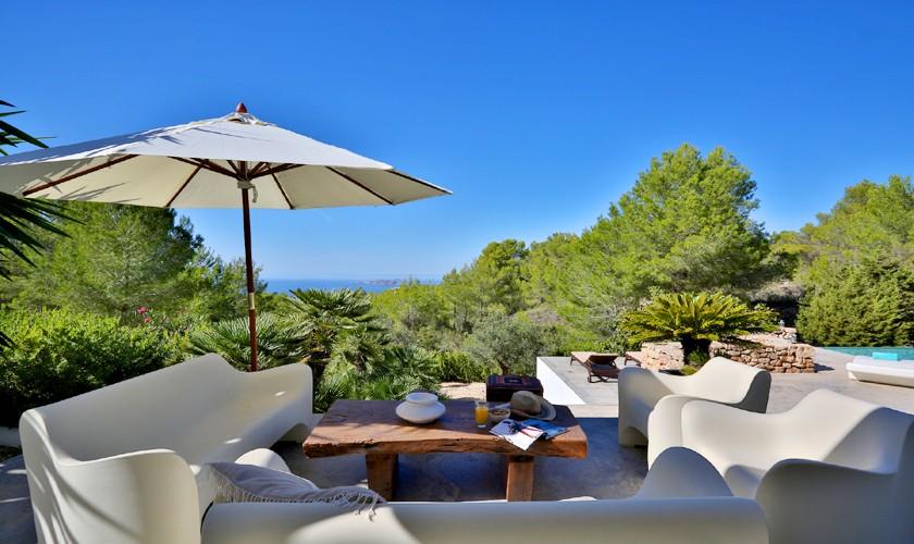 Villa Ibiza Terrasse und Meerblick IBZ 14