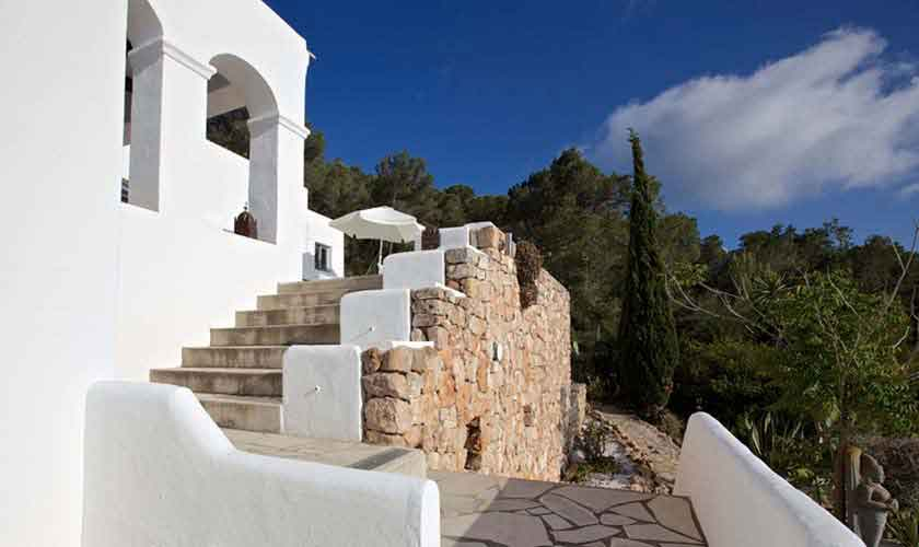 Blick auf das Ferienhaus Ibiza 10 Personen IBZ 26