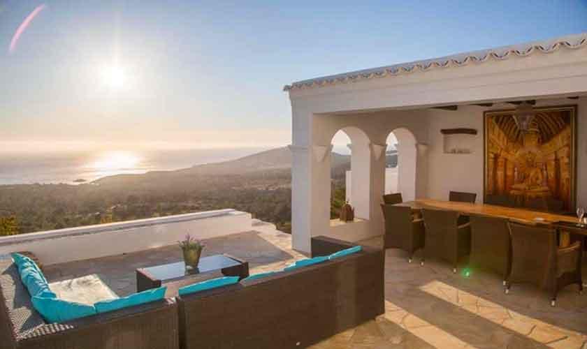 Terrasse und Meerblick Ferienhaus Ibiza 10 Personen IBZ 26