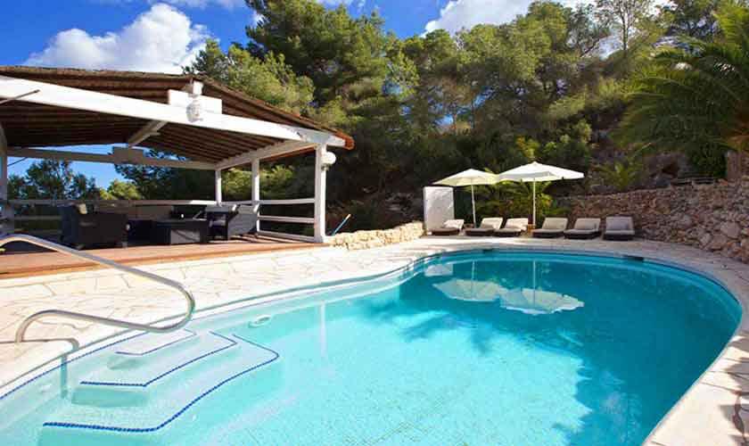 Poolblick Ferienhaus Ibiza 10 Personen IBZ 26