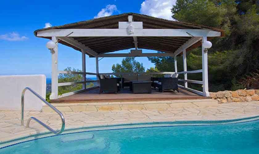 Pool und Terrasse Ferienhaus Ibiza 10 Personen IBZ 26