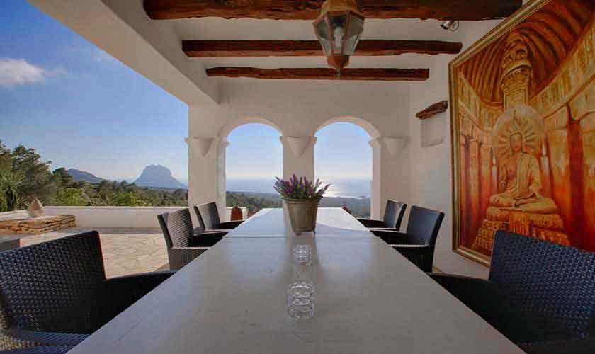 Terrasse und Meerblick Ferienhaus Ibiza IBZ 26