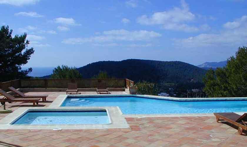 Poolblick Exklusive Finca Ibiza IBZ 28
