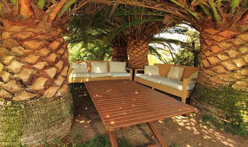 Palmenterrasse Ferienvilla Ibiza IBZ 29