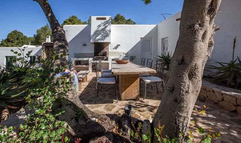 Blick auf die Ferienvilla Ibiza IBZ 32