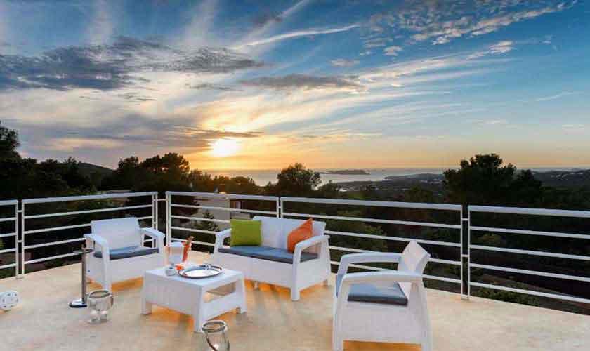 Meerblick Ferienhaus Ibiza 12 Personen IBZ 72