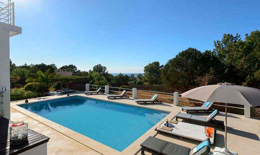 Poolblick Ferienhaus Ibiza 12 Personen IBZ 72