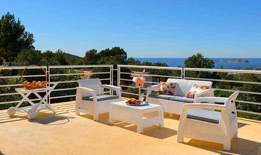 Terrasse und Meerblick Villa Ibiza IBZ 72