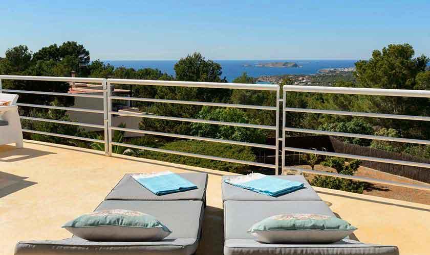 Terrasse und Meerblick Ferienhaus Ibiza IBZ 72