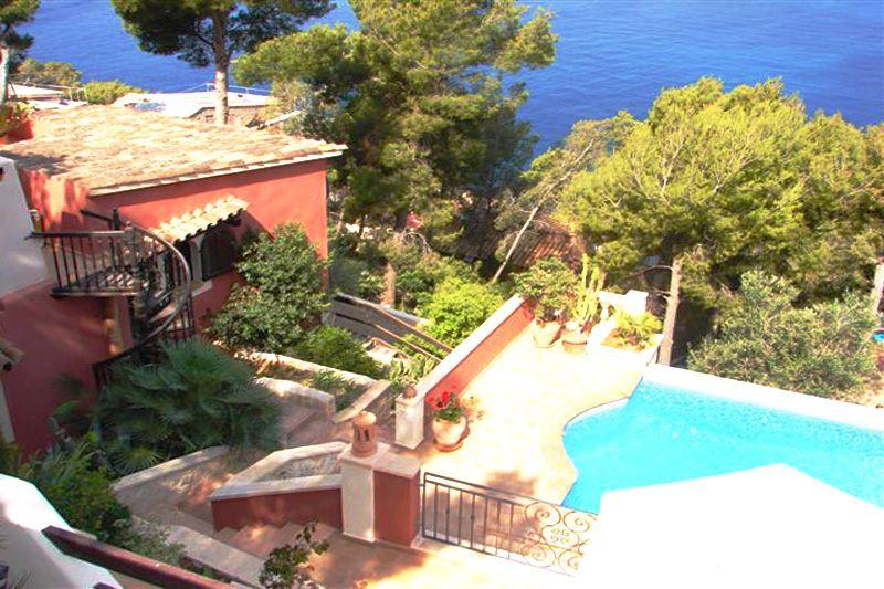 Pool und Meerblick Ferienhaus Mallorca Südwesten PM 103 Nr. 74B