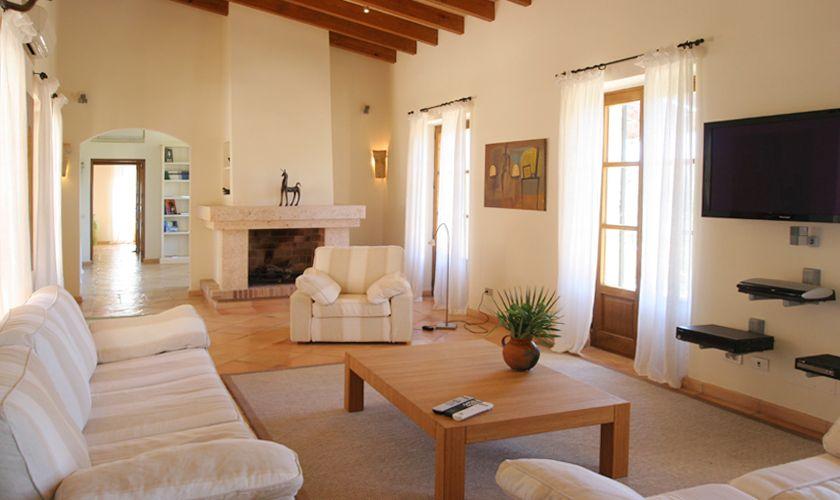 Wohnbereich der exklusiven Finca Mallorca Andratx PM 105