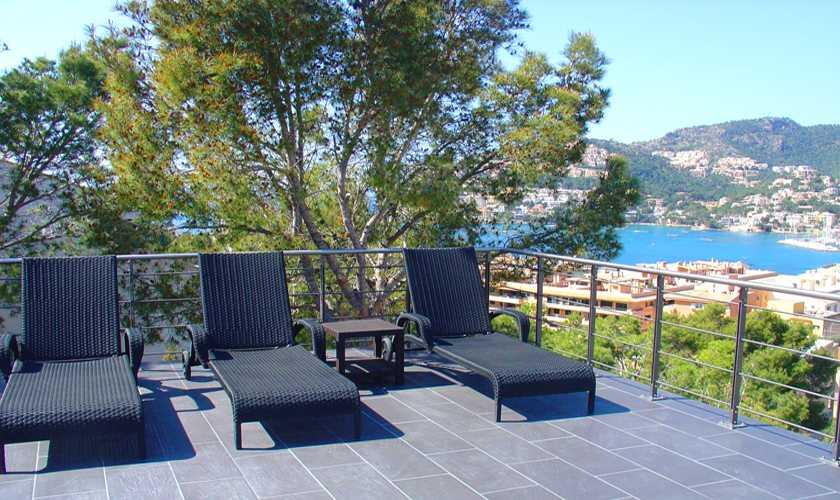 Terrasse und Meerblick Villa Mallorca PM 110