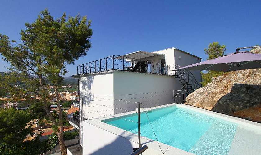 Pool und Luxusvilla Meerblick Mallorca PM 110
