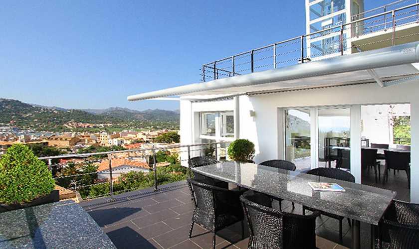 Terrasse Luxusvilla Meerblick Mallorca PM 110
